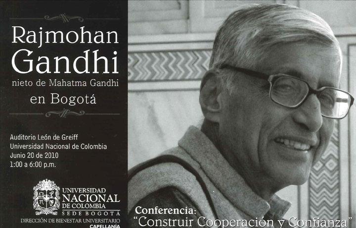 Rajmohan Gandhi en Bogotá.