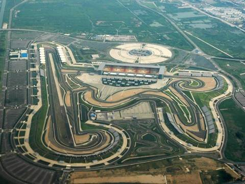 "Vista aérea del ""Buddh International Circuit"""