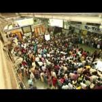 Flash Mob en la terminal del tren CST de Mumbai