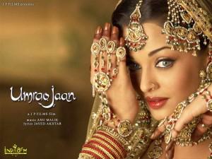 Aishwarya Rai como la cortesana Umrao Jaan (2006)