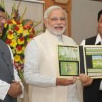 El Primer Ministro de la India lanza estampillas conmemorativas en honor a la Copa Mundial de Fútbol