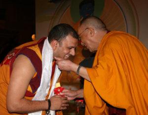 El Venerable Tenzin Priyadarshi y el Dalai Lama